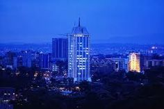 Rahimtullah Tower at night, Nairobi, Kenya Photo by Mutua Matheka Nairobi City, Midnight City, Mud House, Ancient Buildings, Capital City, City Lights, Ghana, Empire State Building, Kenya