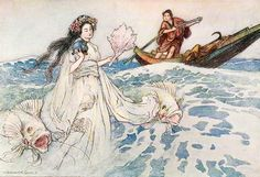 """""""Urashima"""" - Green Willow and Other Japanese Fairy Tales by Grace James, 1910"""