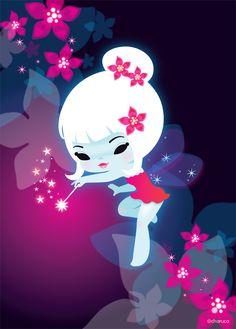 Fairies by Charuca Vargas #cute #kawaii #fairy - Carefully selected by @Gorgonia - www.gorgonia.it