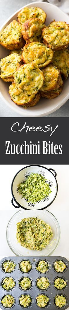 Cheesy baked zucchini tots, perfect for brunch, lunch, or an after school snack! With cheddar, parmesan, lemon, and rosemary.