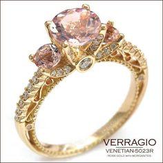 Omg, perfect! Rose gold and pink morganite!