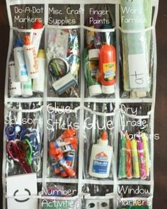 shoe organizer for school and art supplies