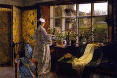 Spring - Grimshaw, John Atkinson (British, 1836 - Fine Art Reproductions, Oil Painting Reproductions - Art for Sale at Galerie Dada Mary Cassatt, Renoir, Atkinson Grimshaw, Irish Painters, Spring Photos, English Artists, Window Art, Window Panes, Window View