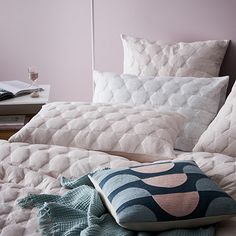 Cordon Quilted Jersey Quilt Cover Pink