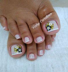Toe nail art idea   Ideias e Inspiração de Unhas dos pés decoradas, as melhores fotos #unasdecoradas