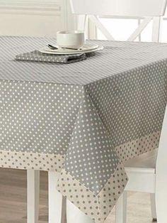 table cloth Tablecloths: Shop for Table Linens Online in Canada Polka Dot Tablecloth, Tablecloth Ideas, Mantel Redondo, Rico Design, Deco Table, Table Toppers, Decoration Table, Table Linens, Table Runners
