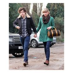 Taylor Swift and Harry Styles Celebrate Her 23rd With Chinese Food and... ❤ liked on Polyvore