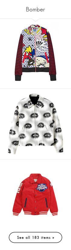 """Bomber"" by alina-chipchikova ❤ liked on Polyvore featuring jackets, outerwear, tops, coats & jackets, www.zaful.com, zaful, flight jacket, bomber jacket, striped jacket and bomber style jacket"