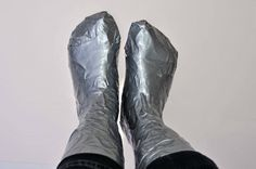 How to make Duct Tape Shoe Lasts on which to create Wet Felted Slippers or Boots. Add pointed tips on slippers Needle Felted, Wet Felting, Felted Slippers, Crochet Slippers, Duct Tape Shoes, Wooly Bully, Felt Boots, Custom Made Shoes, Shoe Last