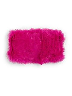 Surell Kid's Neon Rabbit Fur Headband & Collar - Black - Size No S