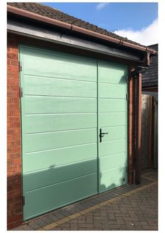 Ryterna Side-Hinged Garage Door ... Side Hinged Garage Doors, Garage Door Hinges, Door Brackets, Garage Door Repair, Upvc Windows, Composite Door, Conservatory, Building, Houses