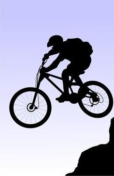 mountain biking silhouettes - Google Search