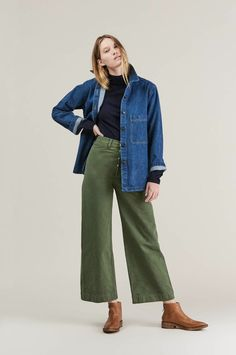 Perry denim jacket by Creatures of Comfort @ Kick Pleat - 2 Minimalist Fashion, Her Style, Dress To Impress, What To Wear, Winter Outfits, Personal Style, Winter Fashion, Jeans, Fashion Outfits
