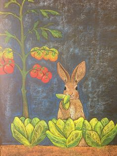 Waldorf Blackboard John the rabbit - Noelle Mckown Blackboard Drawing, Blackboard Art, Chalkboard Drawings, Chalkboard Designs, Chalk Drawings, Art Drawings, Chalkboard Lettering, Chalk Wall, Chalk Board