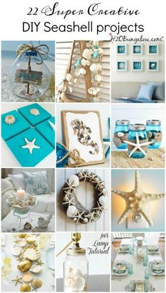 22 super creative DIY seashell projects you can make today H2OBungalow
