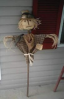 NC Primitives From The Past: Fall Primitives Primitive Fall Crafts, Primitive Scarecrows, Scarecrow Crafts, Primitive Pumpkin, Fall Scarecrows, Autumn Crafts, Fall Halloween, Halloween Crafts, Halloween Ideas