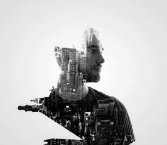 Double Exposure Portraits by Erkin Demir | Photogrist, true detective, doppelbelichtung