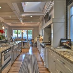 Craftsman Style Home with White Kitchen remodel, oh I think I could learn to love cooking in this kitchen.