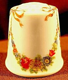 Floral Garlands Porcelain Thimble W. Germany.