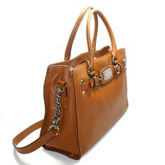 Alfa img - Showing Michael Kors Brown Leather Purse