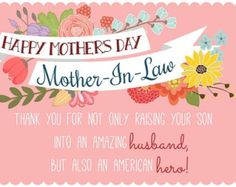 Mother's Day Wishes for Mother-in-Law