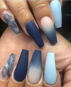 22 Crazy Matte Nail Art Designs Classy With Full Of Excitement Cute Nails, Pretty Nails, My Nails, Fall Nails, Spring Nails, Summer Nails, Summer Acrylic Nails, Best Acrylic Nails, Acrylic Tips