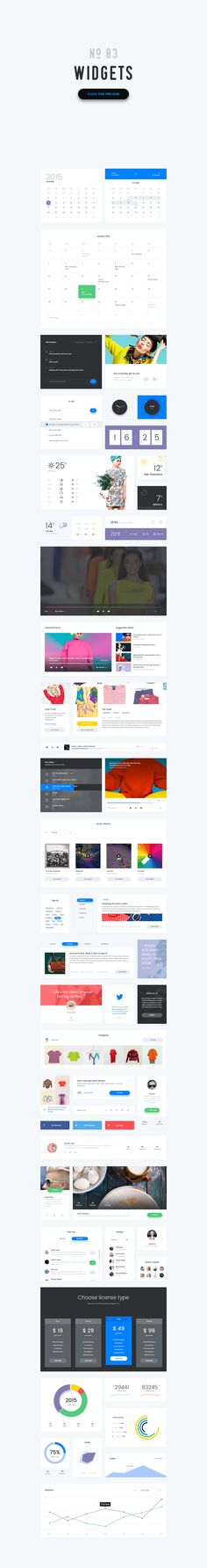 Vivid - Soft Material UI Kit by The UI Shop on Creative Market