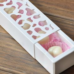 5pcs White Hollow Out Packing Boxes Cake Boxes Candy Boxes