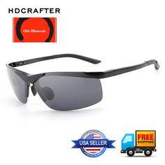 677133e930d7 Details about HDCRAFTER HD6806 Aluminum Magnesium Alloy Polarized Sport  Sunglasses