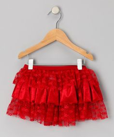Take a look at this Crimson Tier Ruffle Skirt - Girls by Capezio on #zulily today!