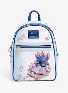 Loungefly Disney Lilo & Stitch Ducklings Mini Backpack - BoxLunch Exclusive Ohana means no one gets left behind or forgotten. Make sure none of your essentials get left behind of… Cheap Handbags, Purses And Handbags, Luxury Handbags, Popular Handbags, Wholesale Handbags, Handbags Online, Luxury Bags, Disney Handbags, Popular Purses