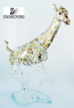 "Swarovski Color Crystal Figurine GIRAFFE w/ Artist Signature #935896 Size: 7"" x 5"" New in original box"