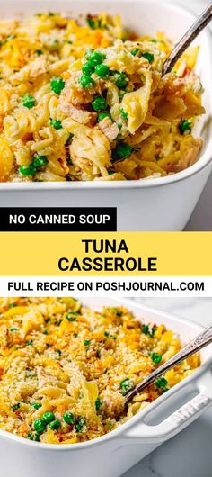 This old-fashioned tuna casserole is amazingly delicious and comforting. It's the best tuna casserole recipe made of canned tuna but without canned soup! It's so creamy, cheesy, and tasty! #tunacasserole #casserole #tunanoodlescasserole #pasta #eggnoodles #cannedtuna Old Fashioned Tuna Casserole Recipe, Best Tuna Casserole, Tuna Casserole Recipes, Noodle Casserole, Tuna Casserole Without Soup, Seafood Recipes, Pasta Recipes, Sweets Recipes, Yummy Recipes