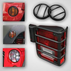 10 Piece Euro Guard Light Kit, Black; 07-16 Jeep Wrangler JK