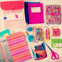 Colorful school supplies!