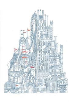 Beautiful Illustrations. Creative drawings by David Fleck. Most of the works are available as posters or t-shirt prints on Society6.
