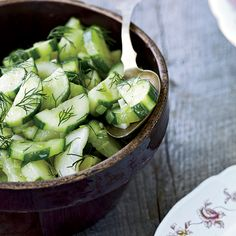 Fresh cucumbers are excellent when gently braised in butter and served warm. This dish is best with thin-skinned cucumbers, like English, Japanese and...