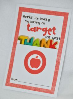 Target gift card Thanks for keeping my learning on TARGET this year!
