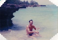 1985 - Cayman Islands - He loved snorkeling and would stay in the water til his skin was pruny.