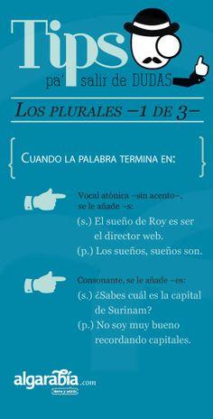 Los plurales —1 de 3—