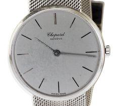 Schweizer Herrenuhr CHOPARD mit Milanese Weissgold Armband | Luxus Armbanduhr #uhr #uhren #chopard #herrenarmbanduhr #luxus #Schmuckboerse #vintage mehr: https://www.schmuck-boerse.com/index-gold-uhren.htm
