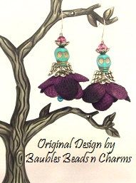 Hey, I found this really awesome Etsy listing at http://www.etsy.com/listing/160738719/halloween-earrings-day-of-the-dead