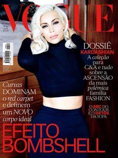 KIM KARDASHIAN NA CAPA DA VOGUE BRASIL - Fashionismo