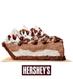 Hersheys Sundae Pie Chock-full of chocolate Hershey Chocolate Pie, Chocolate Pies, Chocolate Recipes, No Bake Treats, Yummy Treats, Delicious Desserts, Sweet Treats, Hershey Pie Burger King, Hershey Cream Pie Recipe