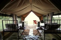 A Twin Tent at Camp Zebra. The ultimate Migration experience! Get Closer. Be Closer. #IntimatePlaces #Tanzania #Luxury #Mobile #Camping #Wildebeest #Migration #Ultimatesafariexperience www.intimate-places.com Serengeti National Park, Private Games, Relaxing Places, Camping Ideas, Tanzania, Closer, Places Ive Been, Safari, Tent