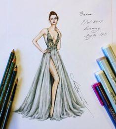 Trendy Fashion Ilustration Gown Drawing Wedding Dresses - Image 13 of 25 Dress Design Sketches, Fashion Design Drawings, Fashion Sketches, Fashion Drawing Dresses, Fashion Illustration Dresses, Fashion Illustrations, Drawing Fashion, Design Illustrations, Fashion Dresses