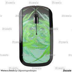 Waves n Swirls Wireless Mouse