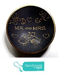 Lovebirds Black & Gold Mr. & Mrs.Ring Dish Handmade Jewelry Holder Wedding Gift- Polymer Clay Dish- Home Decor- Gifts for Her-Sale from SK  Artisan Jewelry & Gifts https://www.amazon.com/dp/B01N79HSDQ/ref=hnd_sw_r_pi_dp_ynQuyb50CF0K0 #handmadeatamazon