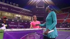 VENUS Williams survived a match point against Barbora Zahlavova-Strycova of the Czech Republic on her way to booking a place in the quarter-finals of the Qatar Open.