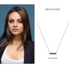 Mila Kunis wears Dana Rebecca jewelry. Shop celebrity jewelry with dana rebecca